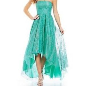 Jump Apparel high low sequin ball gown